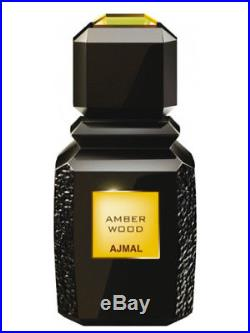 AJMAL Amber Wood 100ml/3.4oz Brand New in Sealed Box, Fast Shipping! STRONG