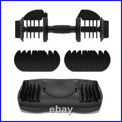 Adjustable Dial Dumbbell 11-to-71.5-lbs range with 5.5 lbs increment FAST shipping