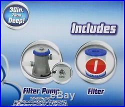 Bestway Fast Set 10'X 30 Family Swimming Pool with Filter & Pump SameDay Ship
