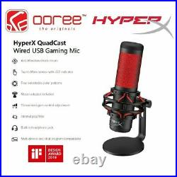Brand NEW HyperX QuadCast USB Condenser Gaming Microphone SHIPS FAST