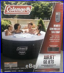 Coleman SaluSpa 4 Person Round Portable Inflatable Outdoor Hot Tub Spa-Fast Ship
