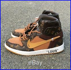 Custom Air Jordan 1 FAST SHIPPING available in hand 8.5,9.5,12 Read Disc