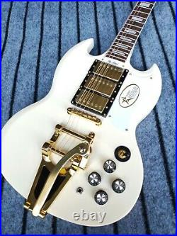 Custom Factory High-Quality Standard Cream Color Electric Guitar Fast Shipping