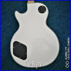 Custom Store 2020 Black and White Circle High Quality Electric Guitar Ships Fast