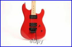 Double Cutaway Cheaper Electric Guitar FR Maple Neck Black Hardware Fast Ship