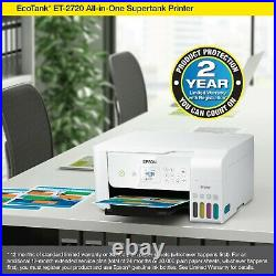 Epson EcoTank ET-2720 All-In-One Supertank Color Printer (White) NEW SHIP FAST