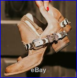 Fast Ship! New $245 Sz 8 Freebird By Steven Blade Taupe Distressed Ankle Booties