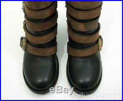 Fast Ship! Nwb Sz 8 $275 Freebird By Steven Boost Black Multi Belted Ankle Boot