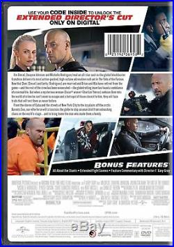 Fast and Furious 8 DVD NEW Movie 2017 The Fate of the Furious F8 Free Shipping
