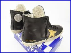 Golden Goose Francy Black Leather High-Top Sneakers 40 US 7 NIB FAST SHIPPING