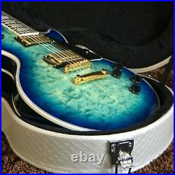 Guitar Store Standard High-Quality Blue Flowe Electric Guitar Fast Shipping
