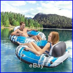 INTEX River Run 2 PACK Sports Lounge Inflatable Floating Water Tube FAST SHIP