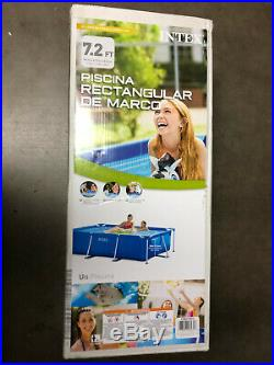 Intex 86in x 23in Rectangular Frame Above Ground Swimming Pool Ships Fast