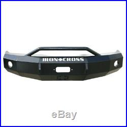 Iron Cross Winch Front Bumper With Push Bar For 2010-2018 Dodge Ram 2500 3500