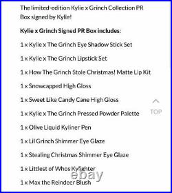 Kylie X The Grinch Signed Pr Box Fast Ship