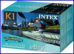 NEW! Intex Challenger K1 Inflatable Kayak Set with Pump FAST SHIP