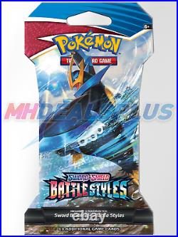 NEW Pokemon TCG Battle Styles x36 Sleeved Boosters Same as Booster Box FAST SHIP