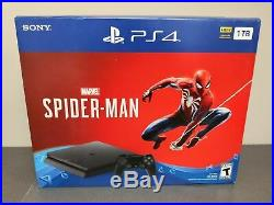 NEW Sony PlayStation 4 Slim PS4 1TB Jet Black Console Only FAST FREE SHIPPING