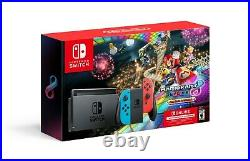 Nintendo Switch Bundle with Mario Kart 8 Deluxe Neon Red/Blue NEW FAST SHIP
