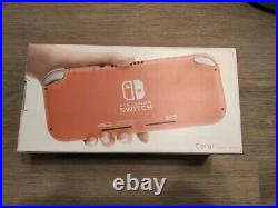 Nintendo Switch Lite Coral/Pink Console 32GB Brand New Fast Free Shipping