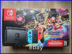 Nintendo Switch Mario Kart 8 Console Deluxe Neon Bundle Fast Free Shipping