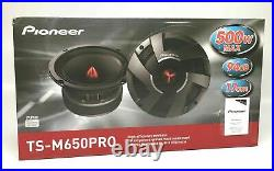 Pioneer TS-M650PRO 1-Way 6.5in. Mid Range Car Speakers PAIR Fast Shipping