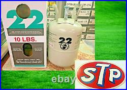 R22, 10 lbs. Refrigerant 22, FAST FREE SHIPPING, Sealed Tank, Air Conditioning