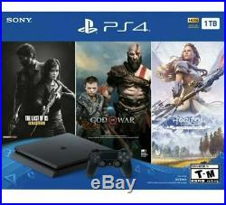 SONY PLAYSTATION 4 PS4 SLIM 1TB CONSOLE PS4 3 GAME BUNDLE Fast Shipping