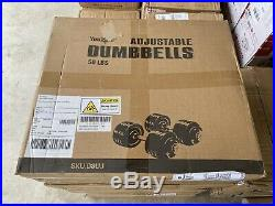 Yes4All Adjustable Dumbbells 50 lb NEW Dumbbell Weights (Pair)SHIPS FAST